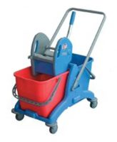 KLENCO Mopping Equipment & Janitorial Cart 2P-Twin 2 x 25